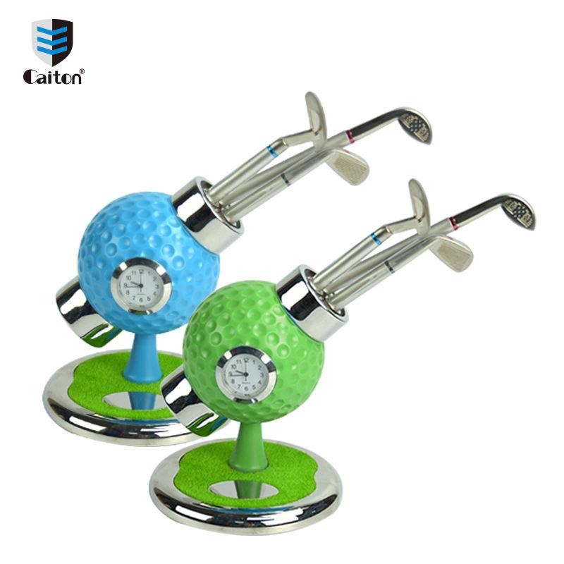 Relógio De <span class=keywords><strong>Golfe</strong></span> Caiton OEM Office Gift Set com Golf Club Pen Grande Presente para o Evento de <span class=keywords><strong>Golfe</strong></span> G143