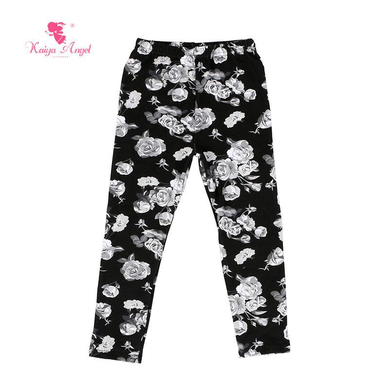 Оптовая продажа; детская одежда; однотонные штаны для маленьких девочек; леггинсы с принтом