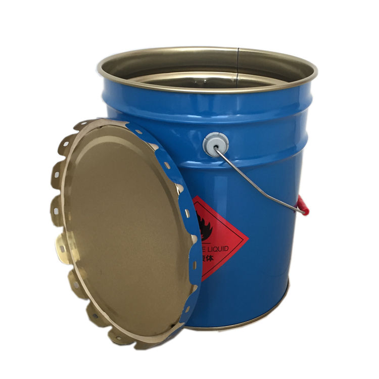 Горячая Распродажа пользовательские цвета жесть несколько размеров 18 металл краски Ведро с крышкой