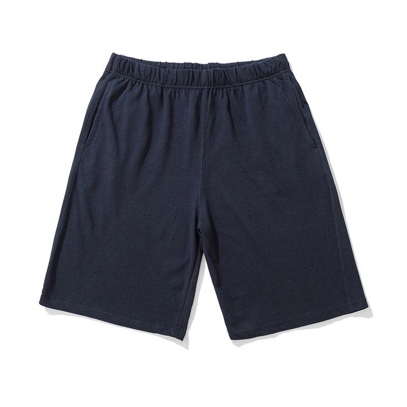 Простой дизайн два боковых кармана черный подросток шорты для мальчиков без шнурок