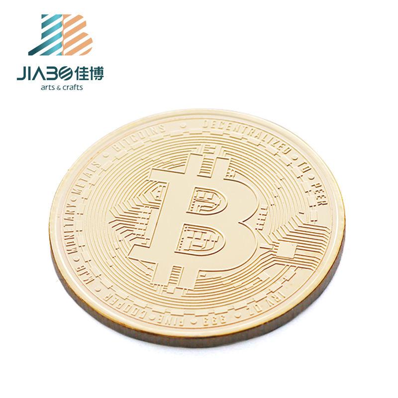 Customsized BTC металлическая сувенирная монета с логотипом Bitcoin