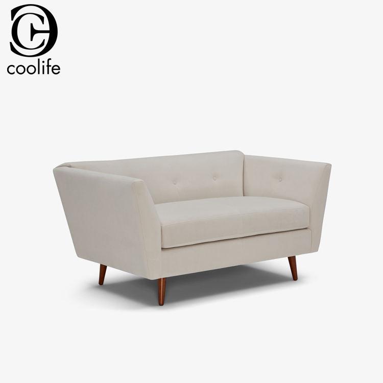 Racionalizado tamaño pequeño sofá de tela de 1,5 plazas para la casa