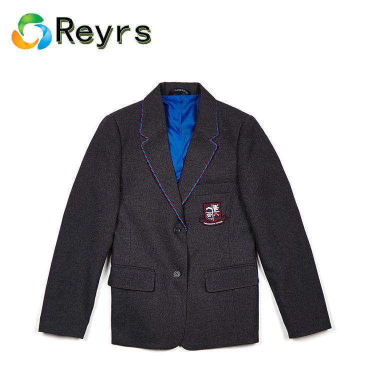 Reyrs 高校少年少女の冬の制服ブレザーコートを編組
