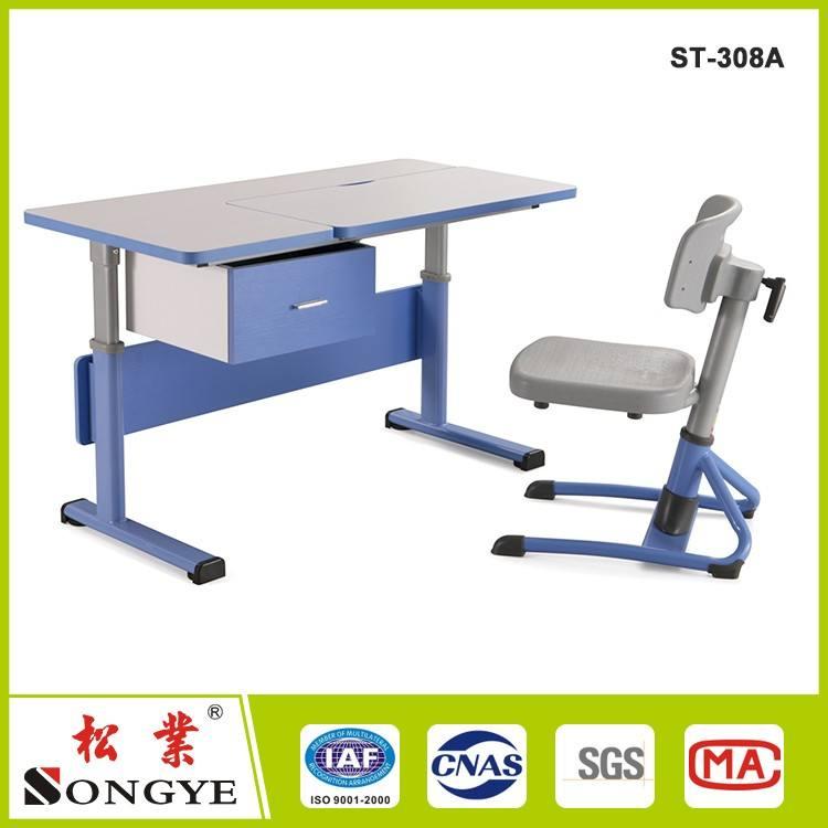Ergonômico moderno mesa de estudo crianças e mesa de trabalho/altura ajustável mesa de estudo e cadeira da escola