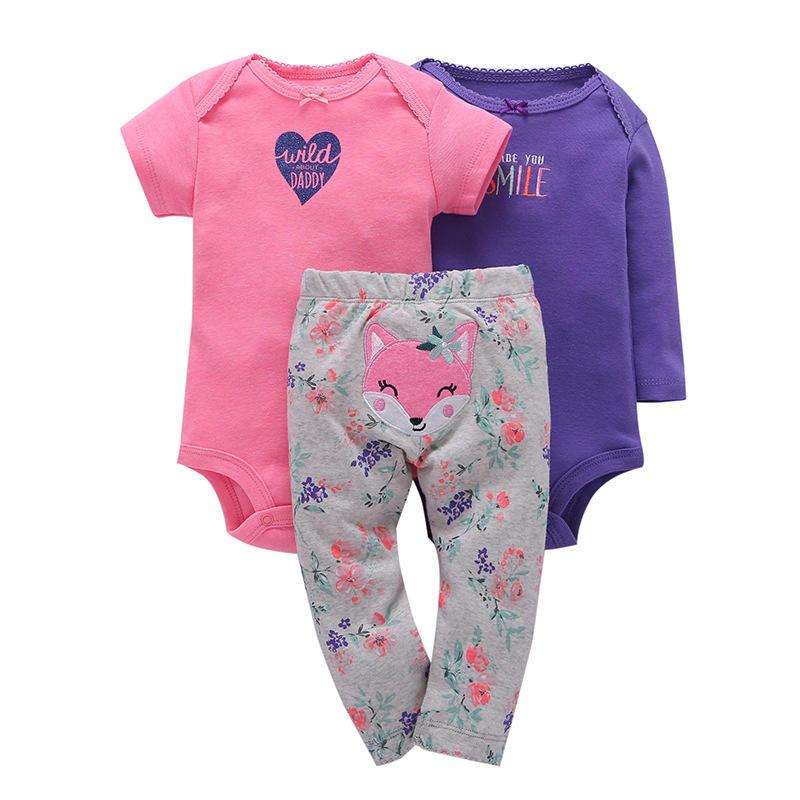 3 упак. одежды для новорожденных мальчиков и девочек одежда, брюки Картер одежда ползунки комплекты одежды для малышей