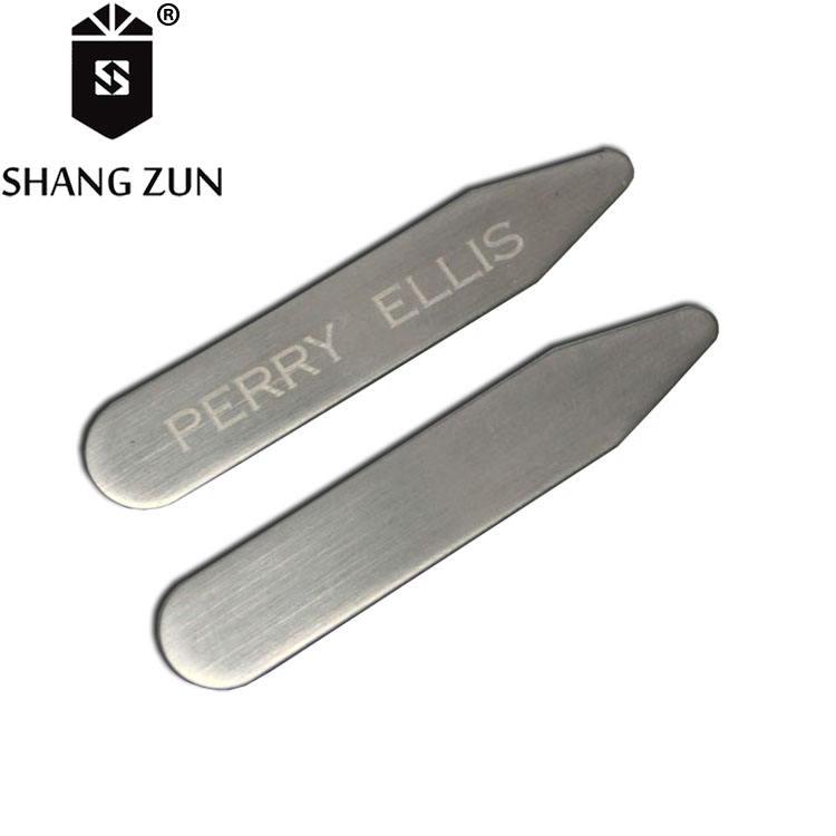 Нержавеющая сталь серебро воротник остается рисунок поверхности металла воротник поддержки <span class=keywords><strong>клиентов</strong></span> лазерный логотип