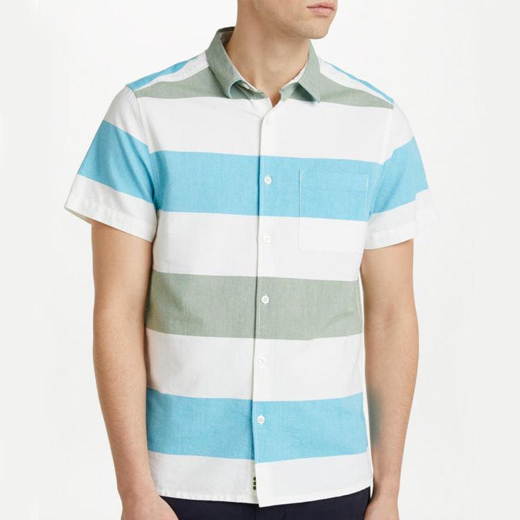 Оптовая продажа Кнопка подпушка рубашки для мальчиков для мужчин хлопок Slim Fit рубашки домашние мужч