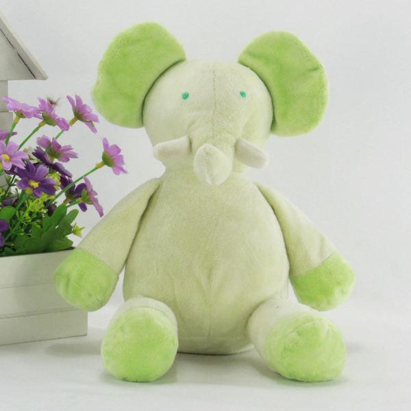 Belo animal de pelúcia brinquedo, <span class=keywords><strong>artificial</strong></span> venda quente recheado elefante verde para as meninas