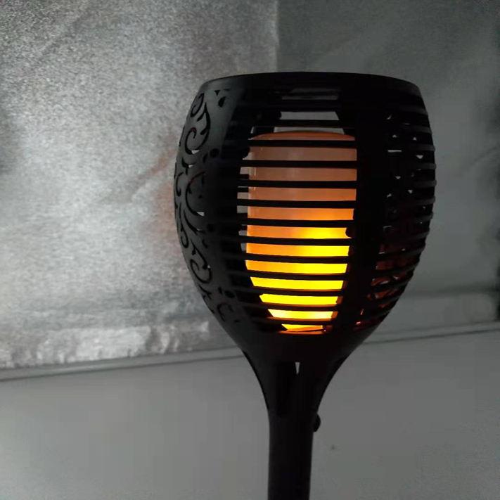96 leds cobre linterna de jardín parpadeando solar al aire libre linterna bailando <span class=keywords><strong>llama</strong></span> Luz