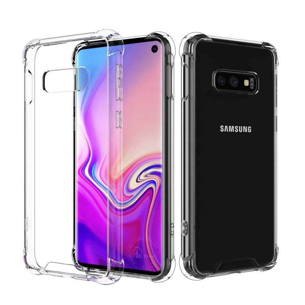 드롭 보호 Shockproof 투명 하이브리드 Hard PC TPU tpu 범퍼 커버 Phone Case 대 한 Samsung Galaxy S10e