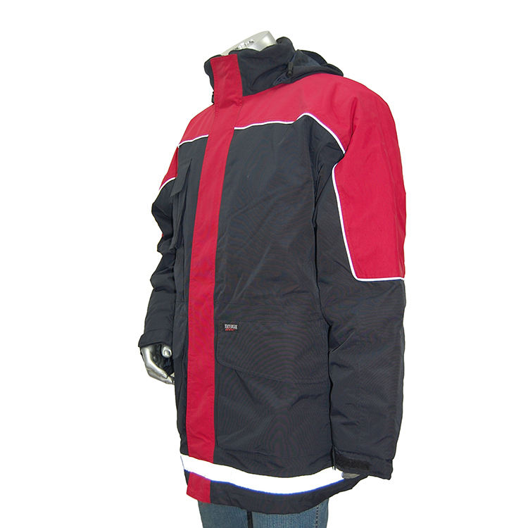 Varsity полиэстер водонепроницаемый промышленных Мужская Рабочая одежда куртка со светоотражателями безопасности куртки