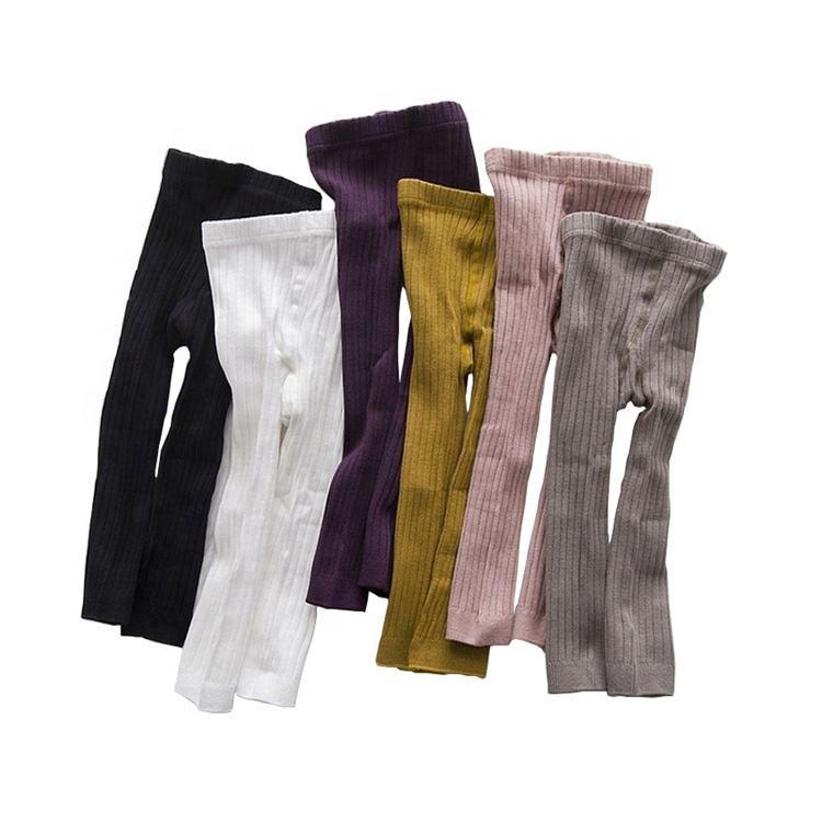 Высокое качество вертикальная полоса конфеты цвет хлопок оптовая продажа Детские леггинсы, брюки