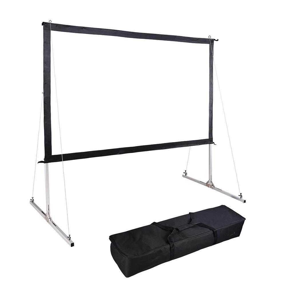 OHYES 120 pollice 16 9 <span class=keywords><strong>double</strong></span> side pieghevole posteriore schermo di proiezione trasparente per il teatro domestico