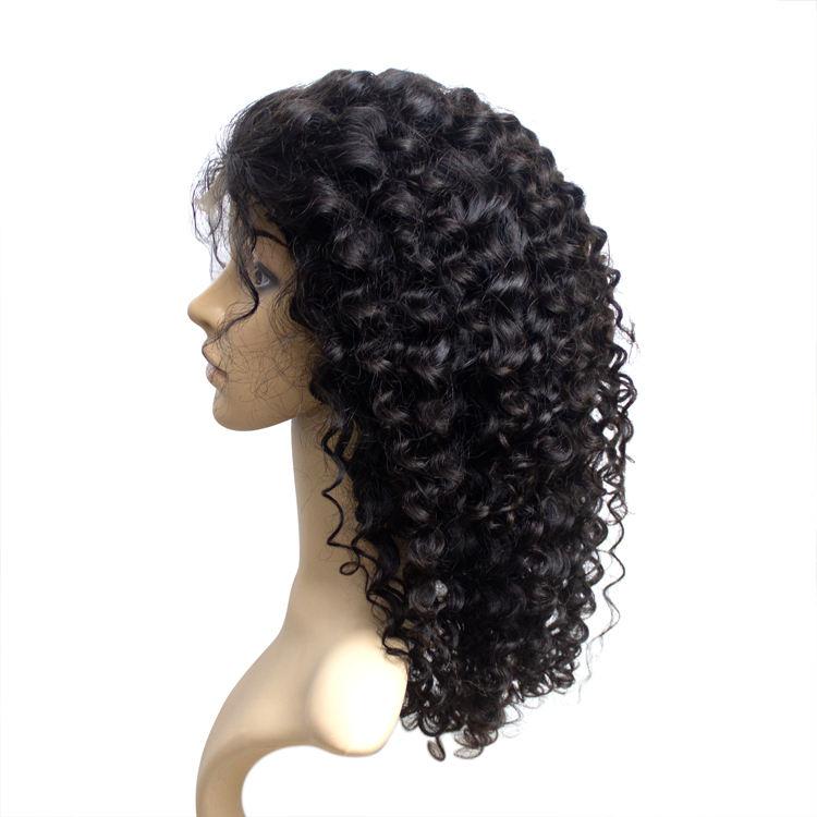 100% cabello humano peluca delantera de encaje película <span class=keywords><strong>pelucas</strong></span> de encaje sin procesar Peluca de cabello humano virgen