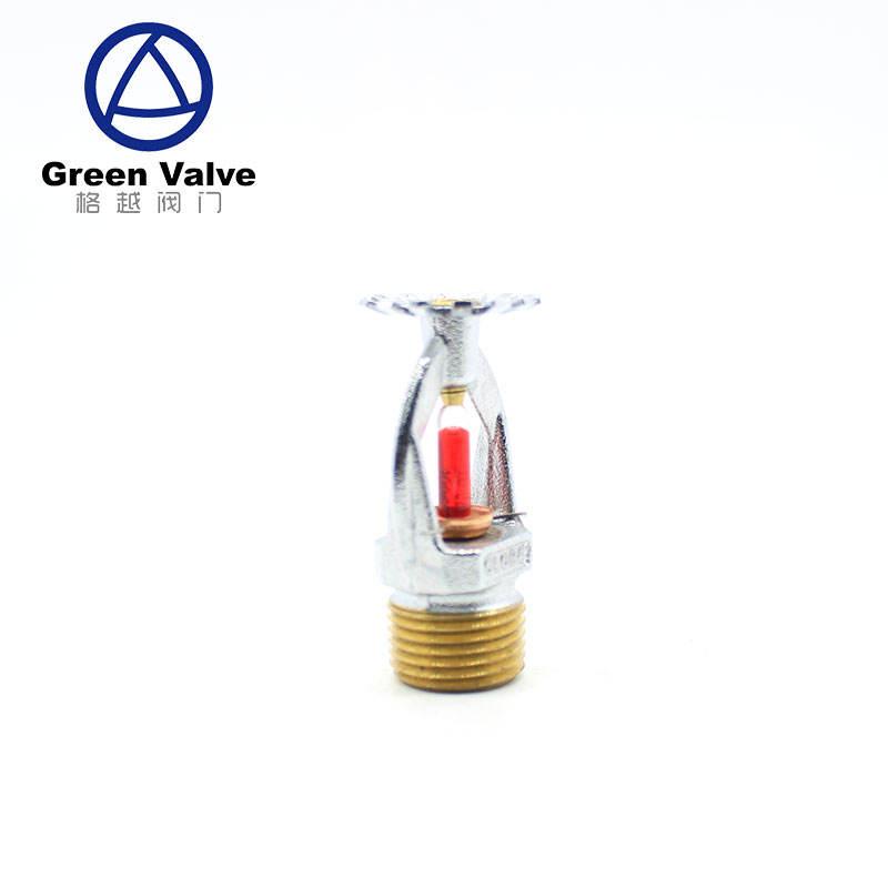 Зеленый клапан высокое качество латунь никель покрытием пожарной защиты Спринклерные головки огонь spirnkler системы