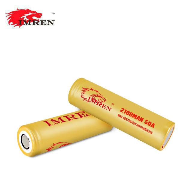 Commercio all'ingrosso IMREN 18650 3.7 v 2100 mah batteria rottami