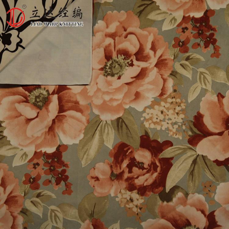 Çiçek tasarım polyester baskılı kumaş baskılı kadife kumaş su geçirmez polyester kumaş
