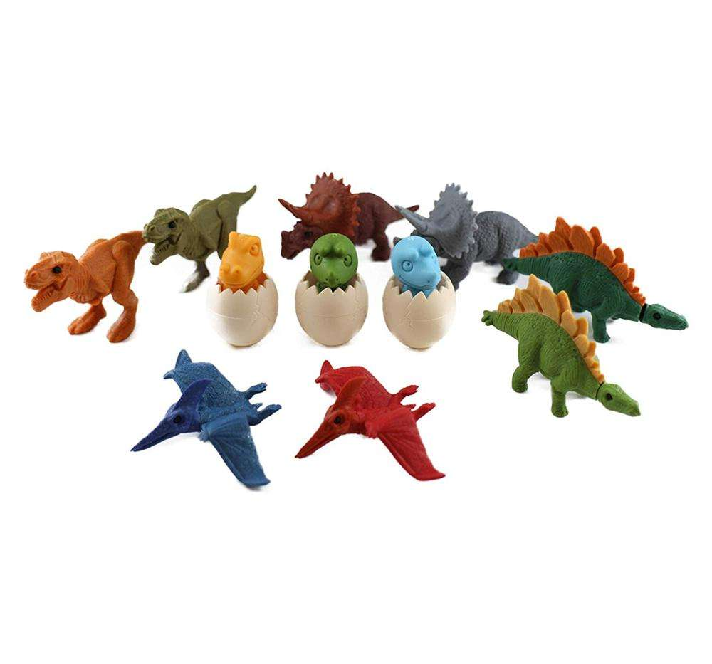 Mini 3D Dinosaur Puzzle Erasers Building Blocks Take Apart Animal Pencil <span class=keywords><strong>Dino</strong></span> Eggs Pencil Eraser Educational Toys für Kids