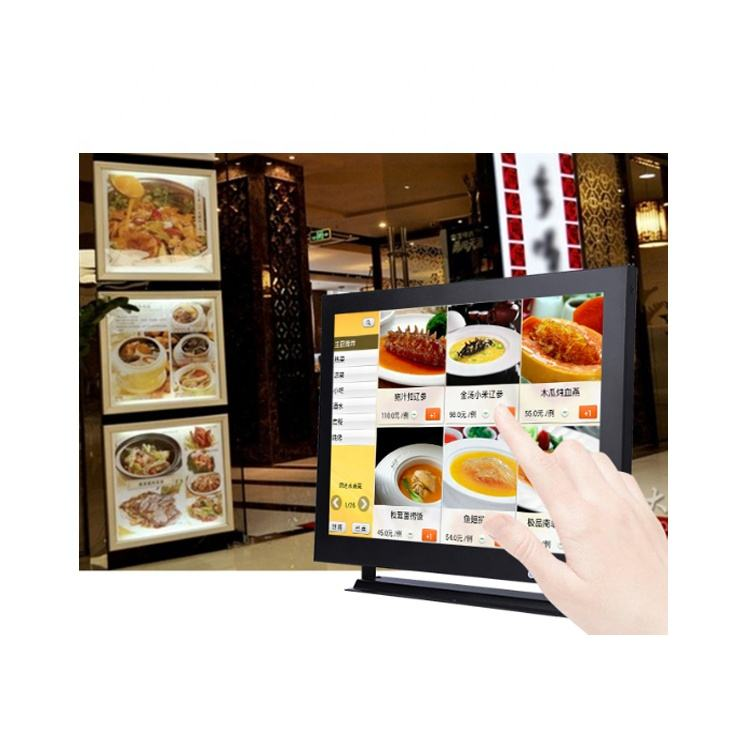 Square screen 12.1inch touchscreen cctv lcd monitor for the Restaurant