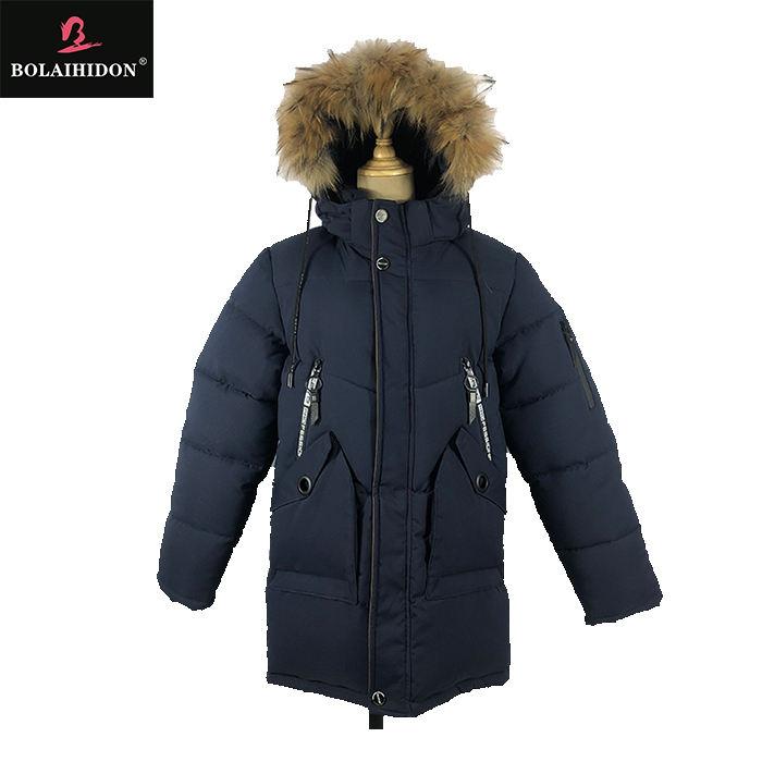 Модная детская зимняя одежда с длинными рукавами; пальто