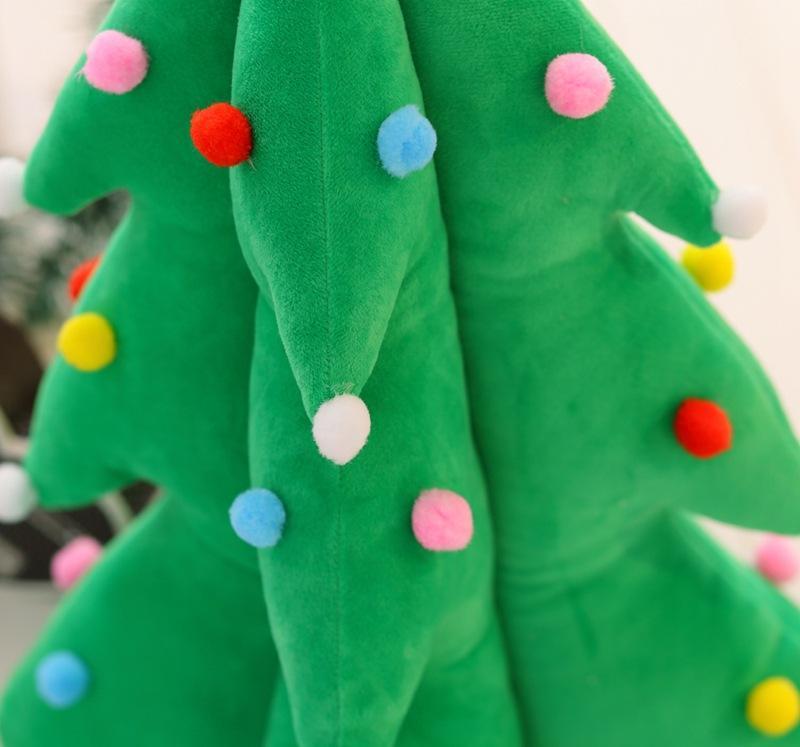 Рождественская елка светодио дный LED музыкальная мягкая меховая плюшевая игрушка