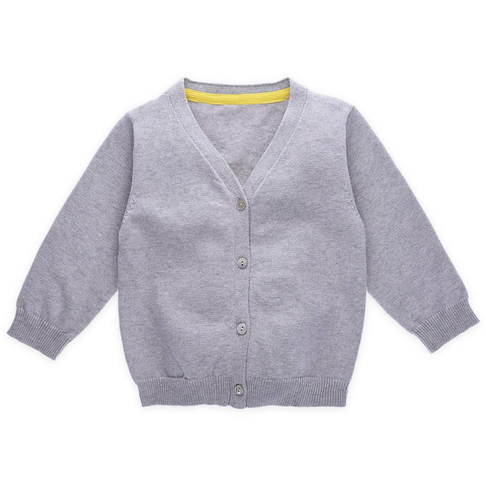 Оптовая продажа; Детский свитер с v-образным вырезом; Хлопковый вязаный детский кардиган для мальчиков
