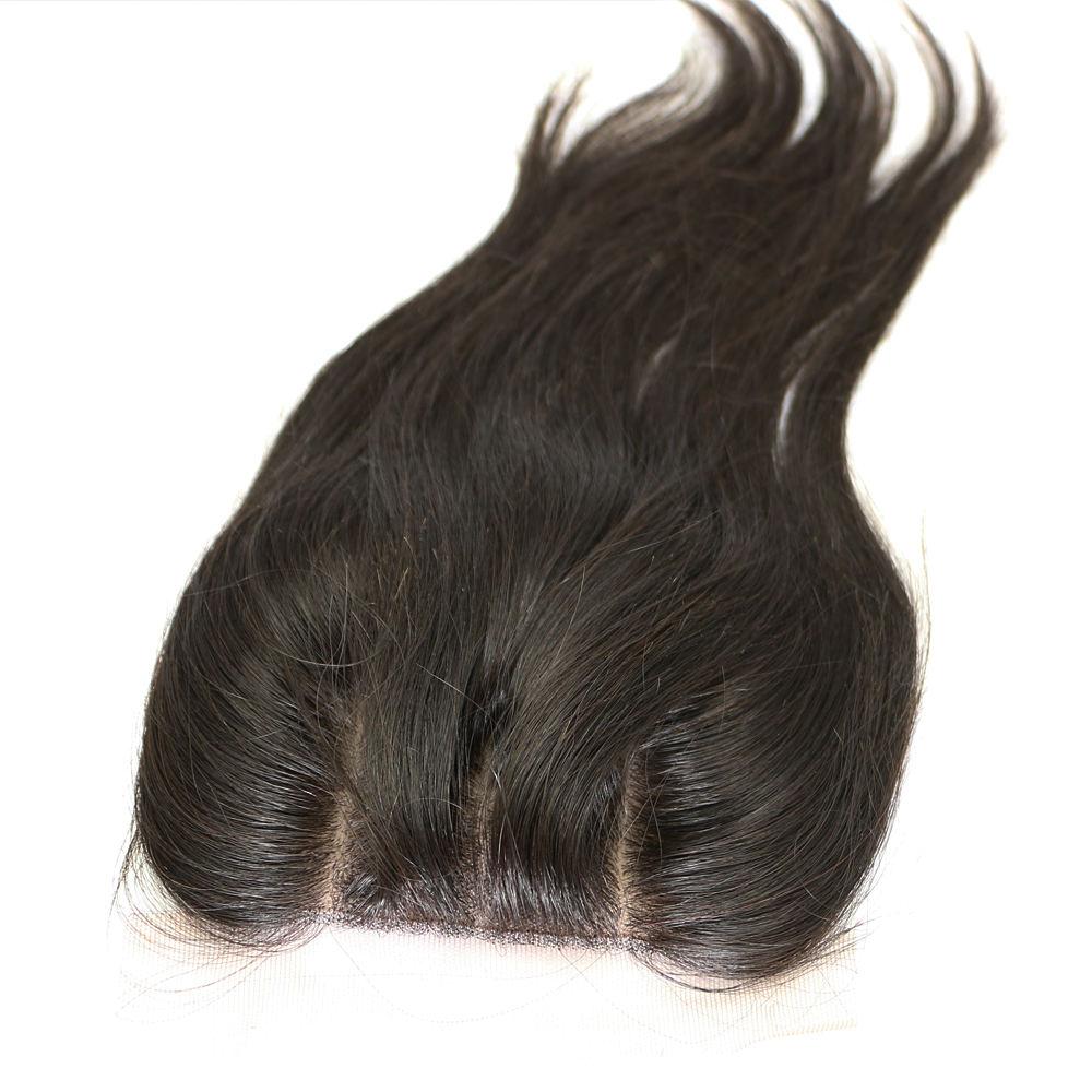 3 Way Base de Parte Seda Fechamento cabelo remy 3.5x4 Fechamento Do Laço com Cabelo Do Bebê