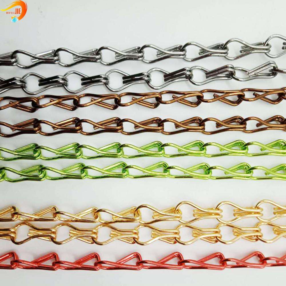 Anti-rust Aluminum Alloy hanging Chain Link Coil Metal Mesh Curtain