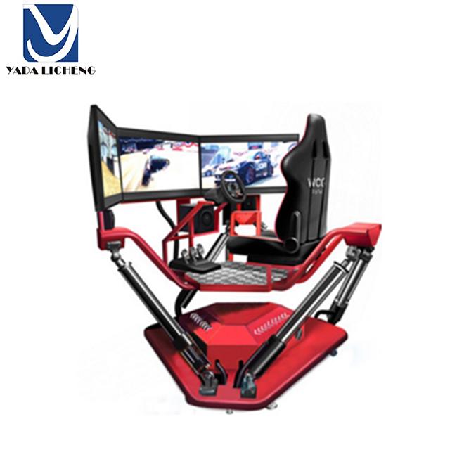 3 bildschirm VR Racing Auto Maschine Spiel f1 Spiel Maschine stimulieren f1 simulator andere freizeitpark produkte