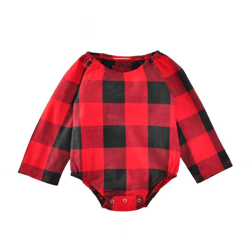 Красный черный сетка Новое поступление Детские Бутик мягкий хлопок Детский комбинезон
