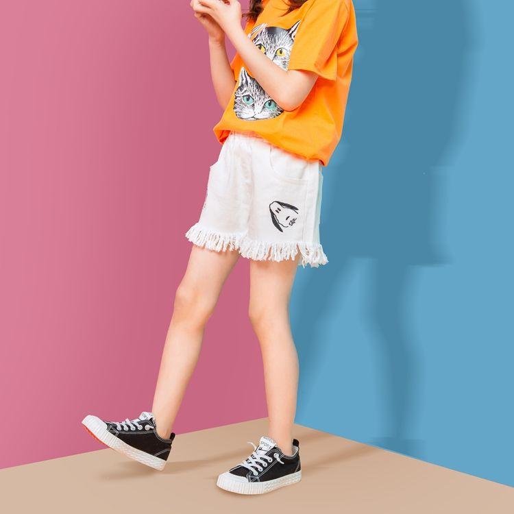 Повседневные Летние штаны летние хлопковые шорты с бахромой для девочек-подростков
