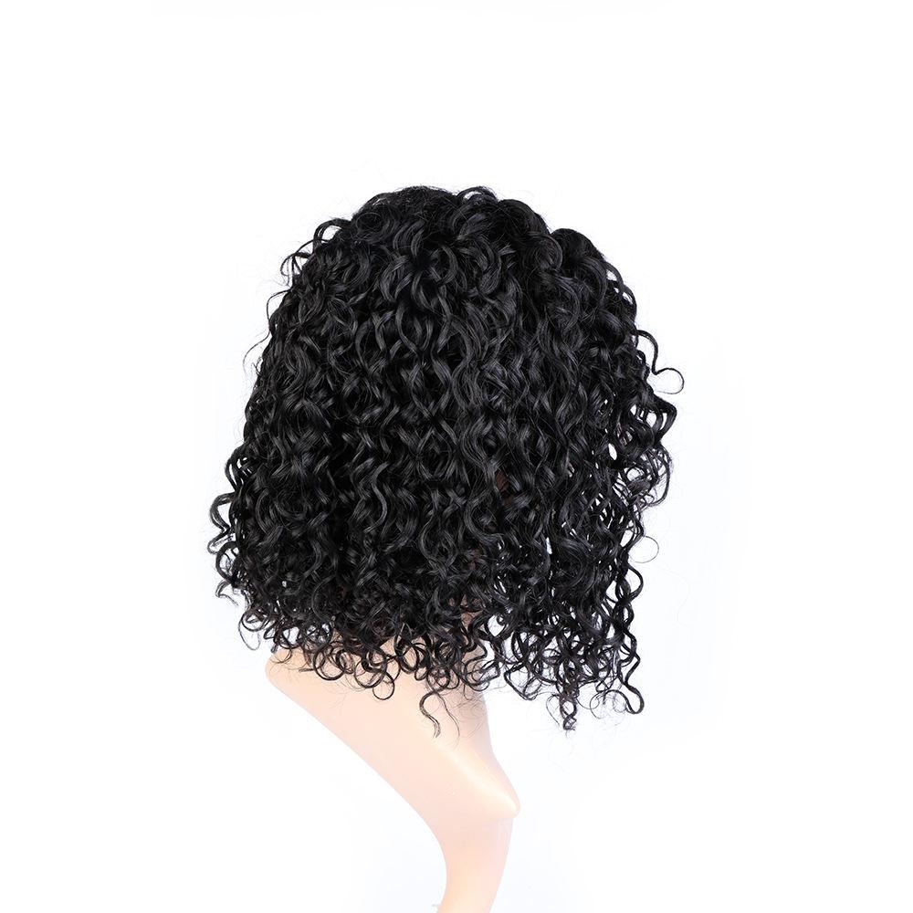 Bliss al por mayor Afro brasileño humano de la peluca de encaje rizado peluca para mujer negro