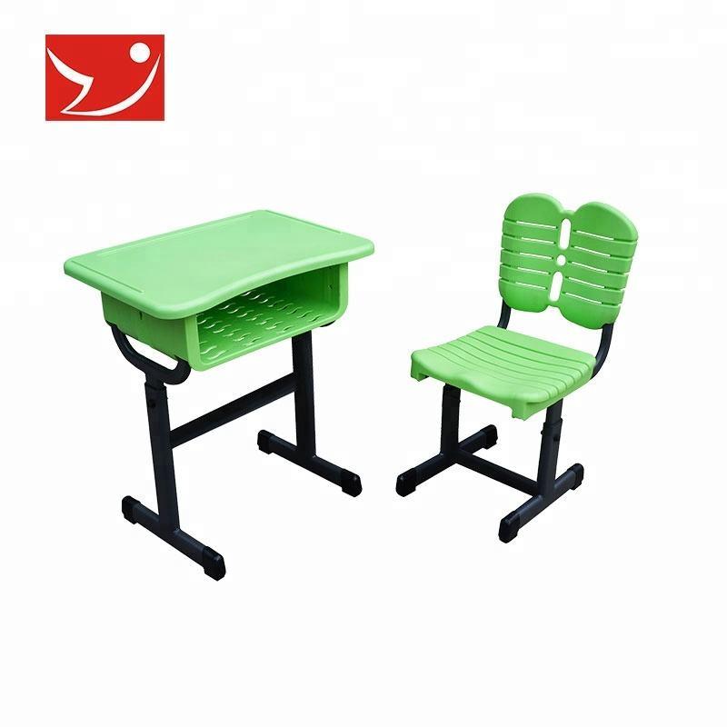 Ergonômico moderno estudo crianças conjuntos de mesa e cadeira de plástico da escola