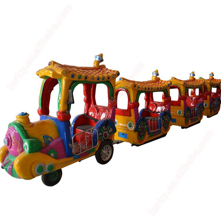 Kinder spielplatz ausrüstung elektrische sightseeing kleine zug im freien spielen ausrüstung weglosen fliesen kleine zug nach