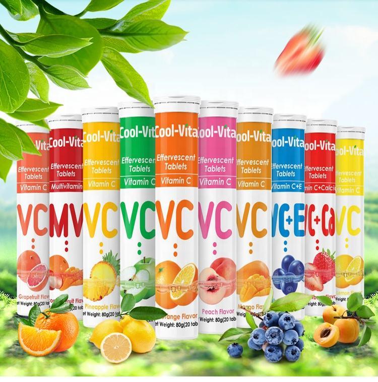 민자 롱 블 Vitamina C Weight 감량 에너지 Solid 음료 발포 성 Protein 정