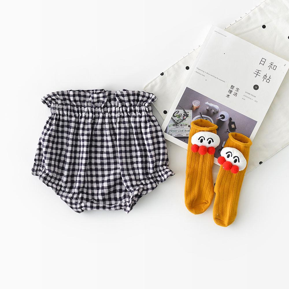 Хлопковые шорты с высокой талией для маленьких девочек