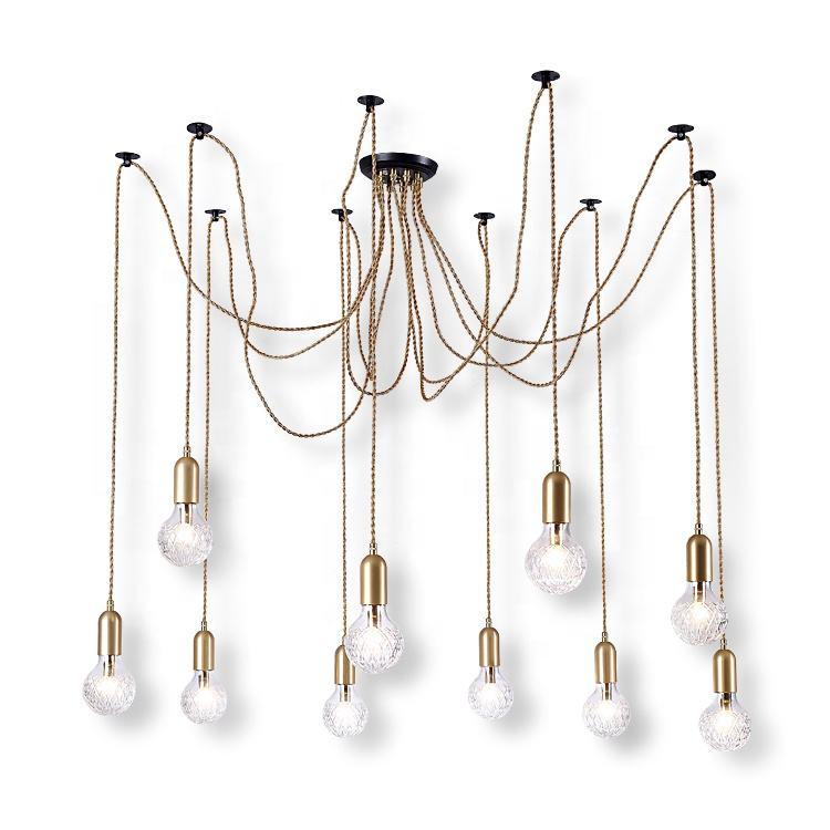 10 cabeza G9 lámpara de techo de luz lámparas de araña colgante de luz