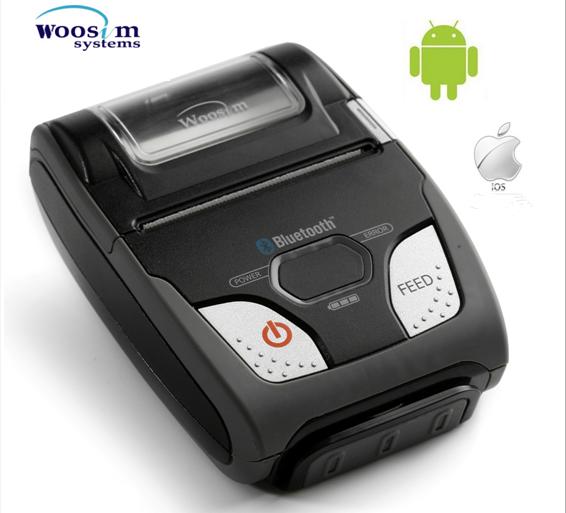 Kablosuz taşınabilir bluetooth termal mobil makbuz yazıcı Woosim WSP-R240 58mm bilet