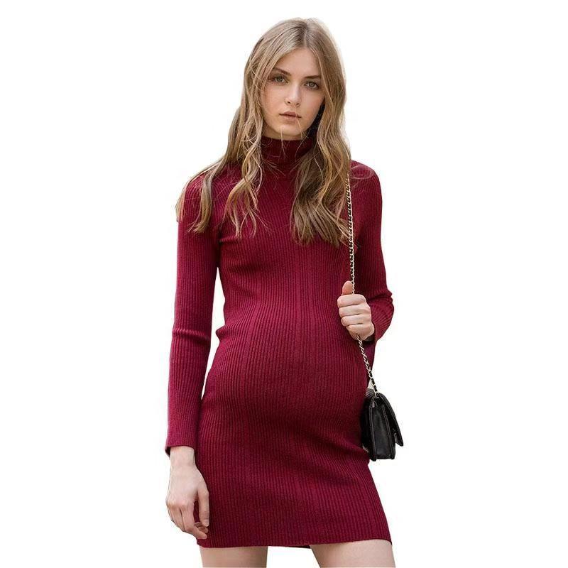Популярное модное платье для беременных, платье макси для беременных, трикотажное платье для беременных