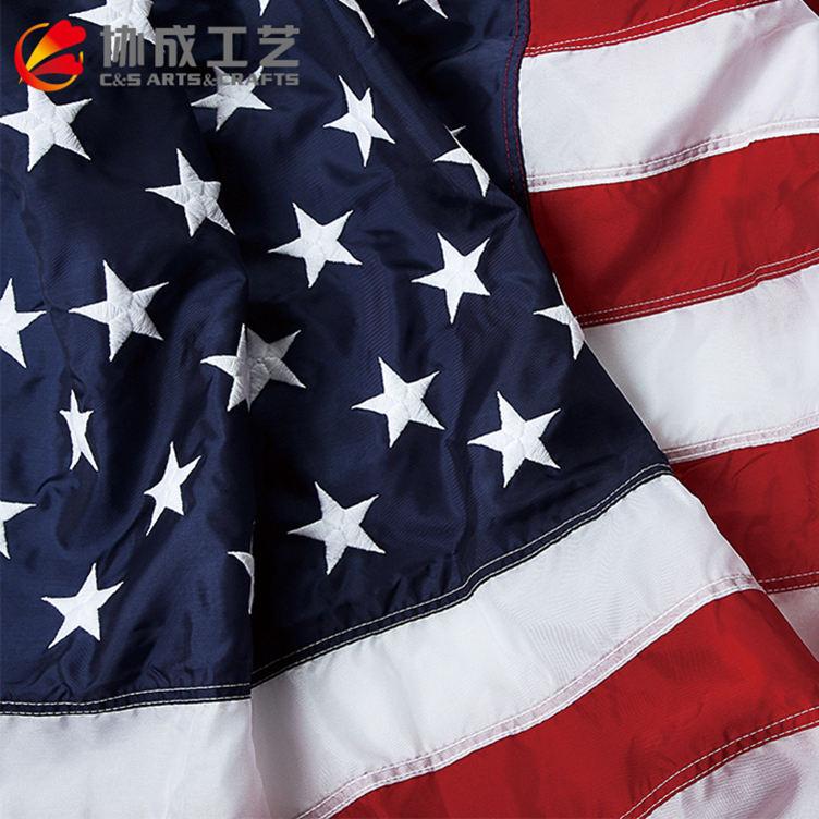 20 лет завод высокого качества пользовательские вышитые национальные флаги США