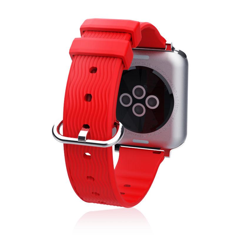 Yumuşak Silikon Dalga Desen Spor Band Kayışı Kemer Bilezik Apple Watch Band için Apple Watch için <span class=keywords><strong>Nike</strong></span> Izle Serisi 4/3 /2/1