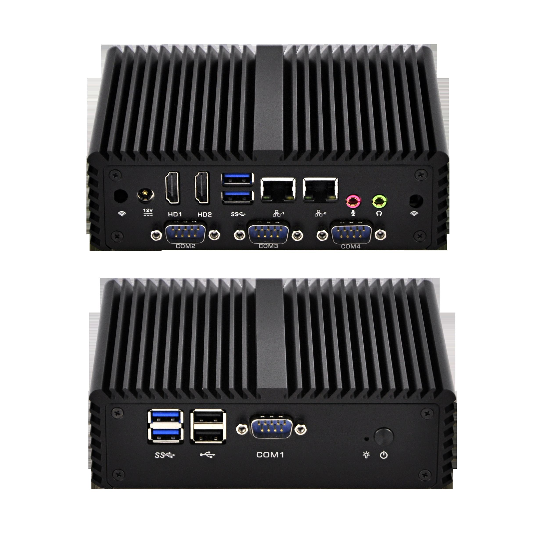 En gros Pas Cher Intel X86 Win 10 Sans Ventilateur <span class=keywords><strong>Mini</strong></span> <span class=keywords><strong>i3</strong></span> Quad Core Linux <span class=keywords><strong>Mini</strong></span> PC 2 Ports Lan Fanless Ordinateur Barebone