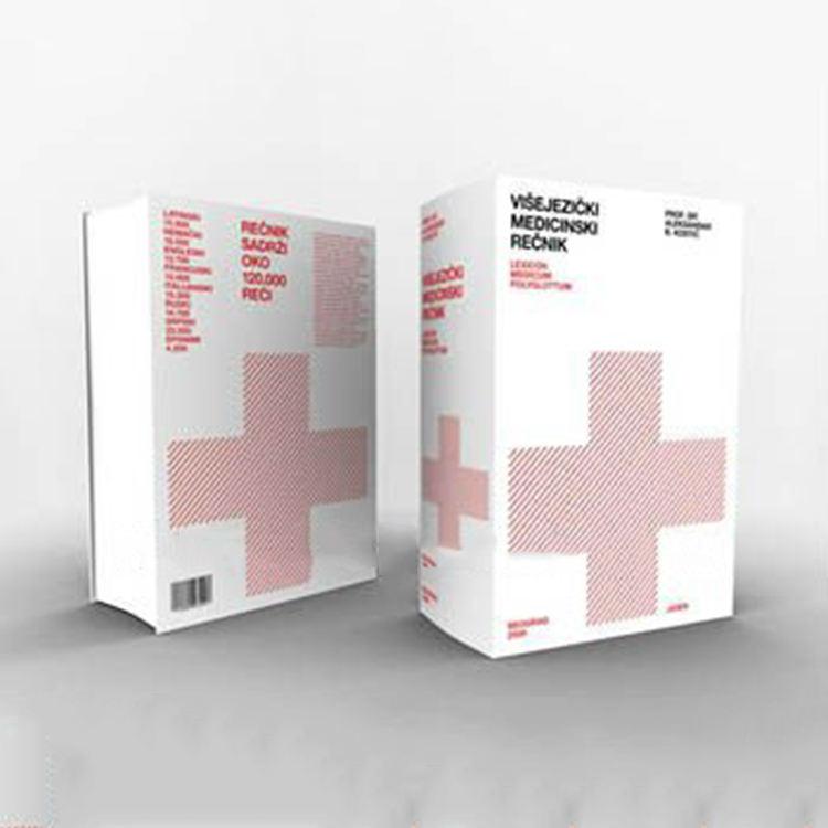 konkurrierendes medizinisches Ausgabebuchdrucken mit Textgenähter und lamellenförmig angeordneter und Punktuvabdeckung