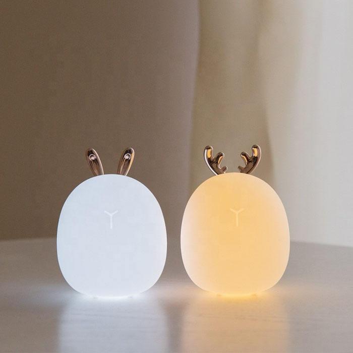 Nuevo modelo de protección del medio ambiente Material interior pequeño lindo Noche de luz LED recargable