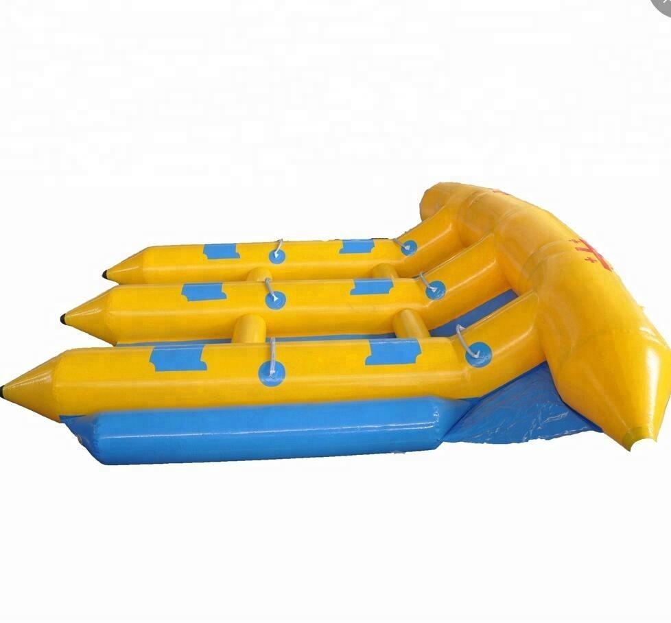 М 4 м * 3 сумасшедшая вода игра морской парк желтый <span class=keywords><strong>надувные</strong></span> летающие рыбы