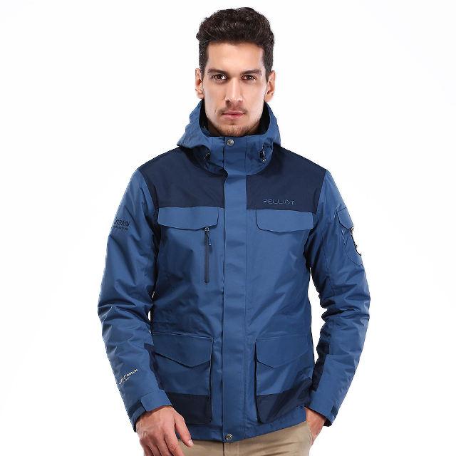 OEM для мужчин Зимние водонепроницаемый уличная одежда дышащий пеший Туризм 3 в 1 Jaket