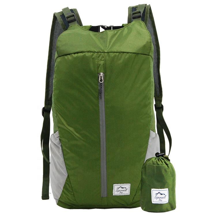 Deporte al aire libre ligera bolsa plegable de ciclismo senderismo Trekking alpinismo mochila