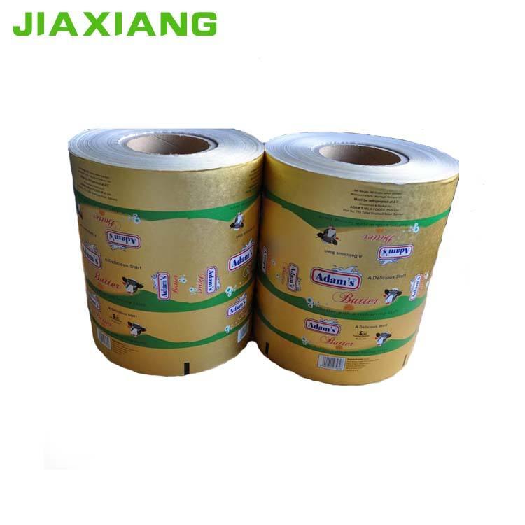 Алюминиевая фольга ламинированная бумага для упаковки маргарина с печатью