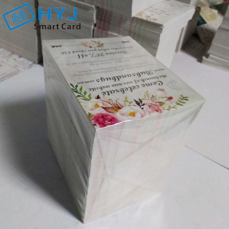 Индивидуальные печати бумага визитная карточка
