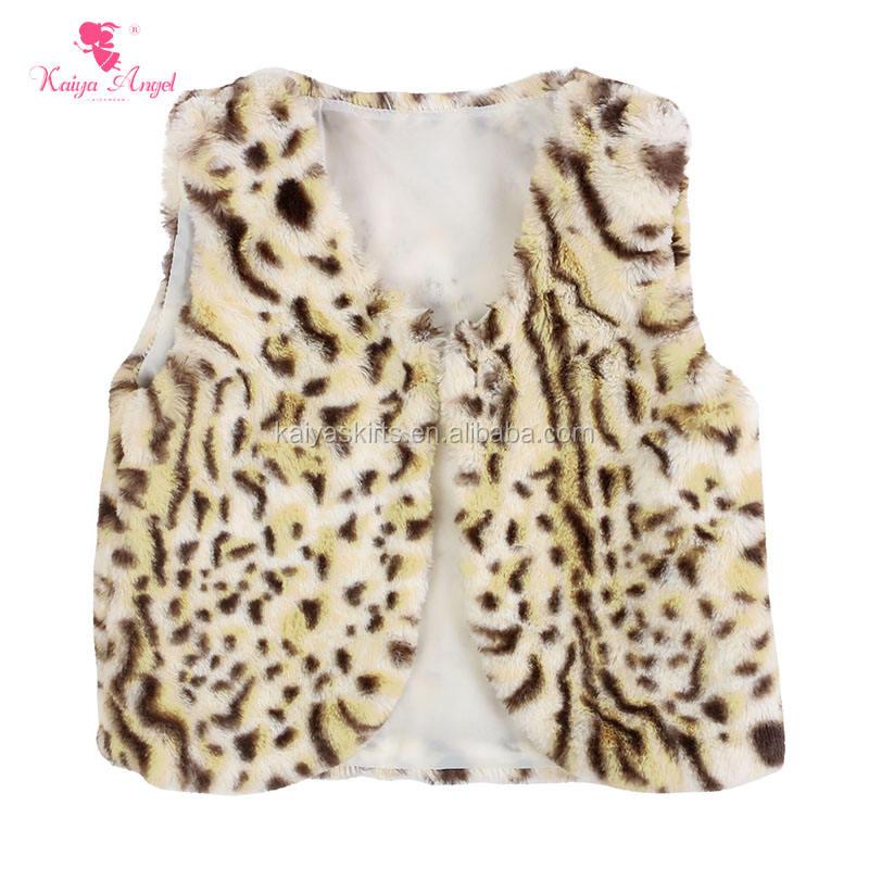 Новое поступление оптовая продажа Детский бутик одежды Дети Зима искусственного меха жилет для девочек меховой жилет для малышей
